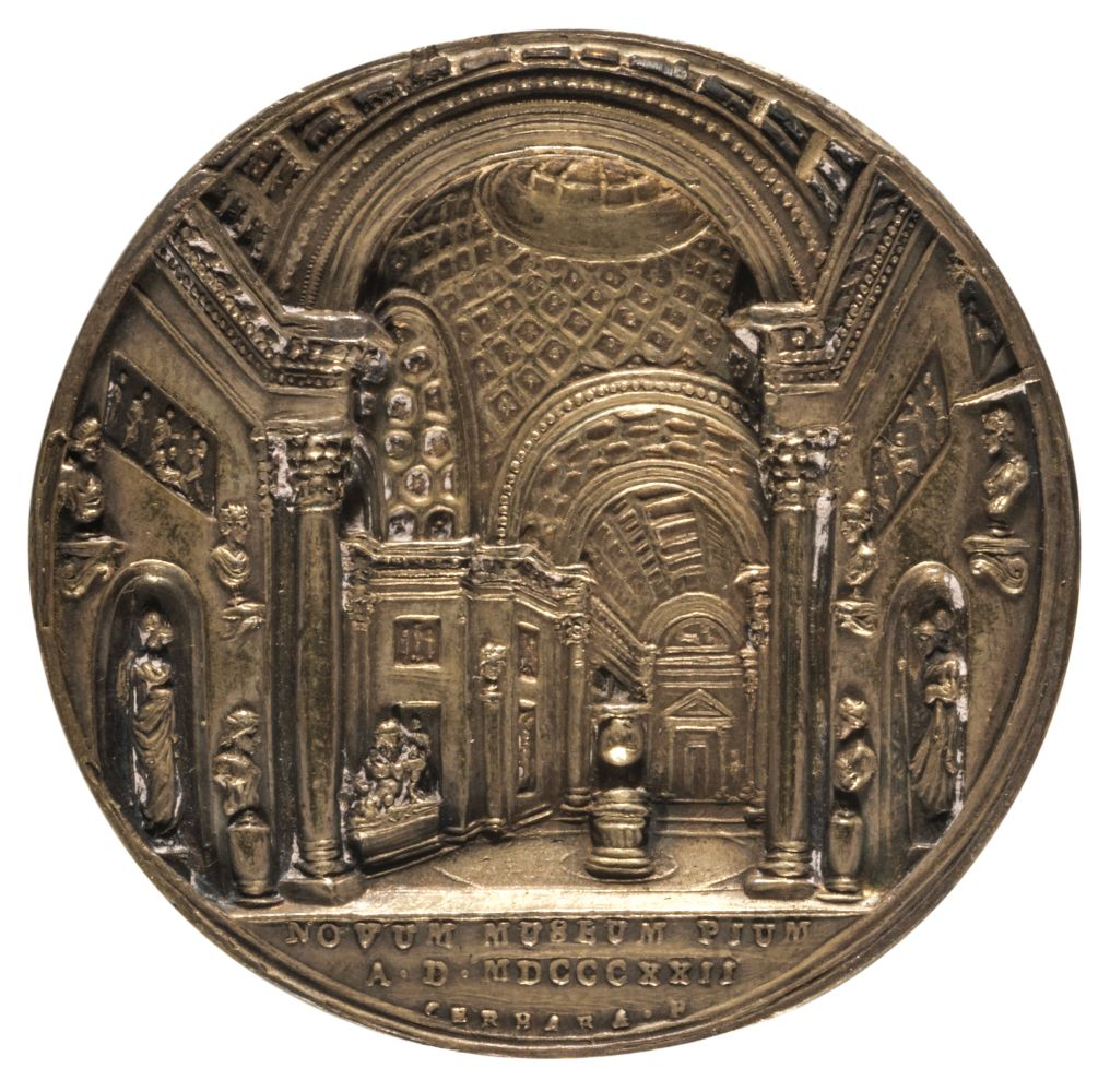 * Medal. Expansion of Vatican Museum, by Cerbara, 1822 - Image 2 of 2