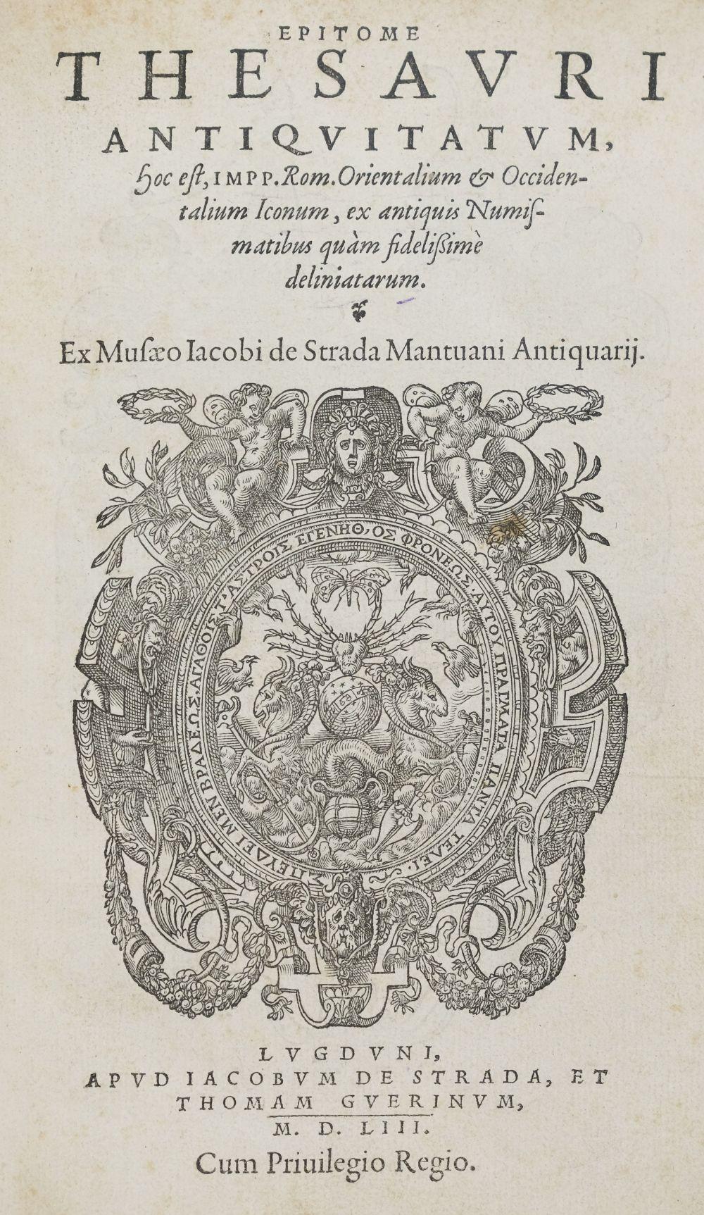 Strada (Jacopo). Epitome Thesauri Antiquitatum, 1553