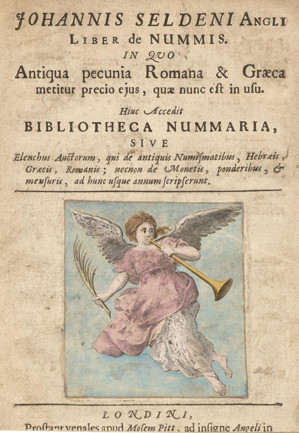 Sardi, Alessandro. Liber de nummis:, 2 parts in one volume, Moses Pitt, [1675]