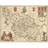 Yorkshire. Blaeu (Johannes), Ducatus Eboracensis pars Occidentalis..., circa 1648