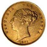 * Coins. Victorian Half-Sovereign and George III Silver Crown