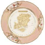 * Hampshire. Porcelain plate, possibly Coalport, circa 1880