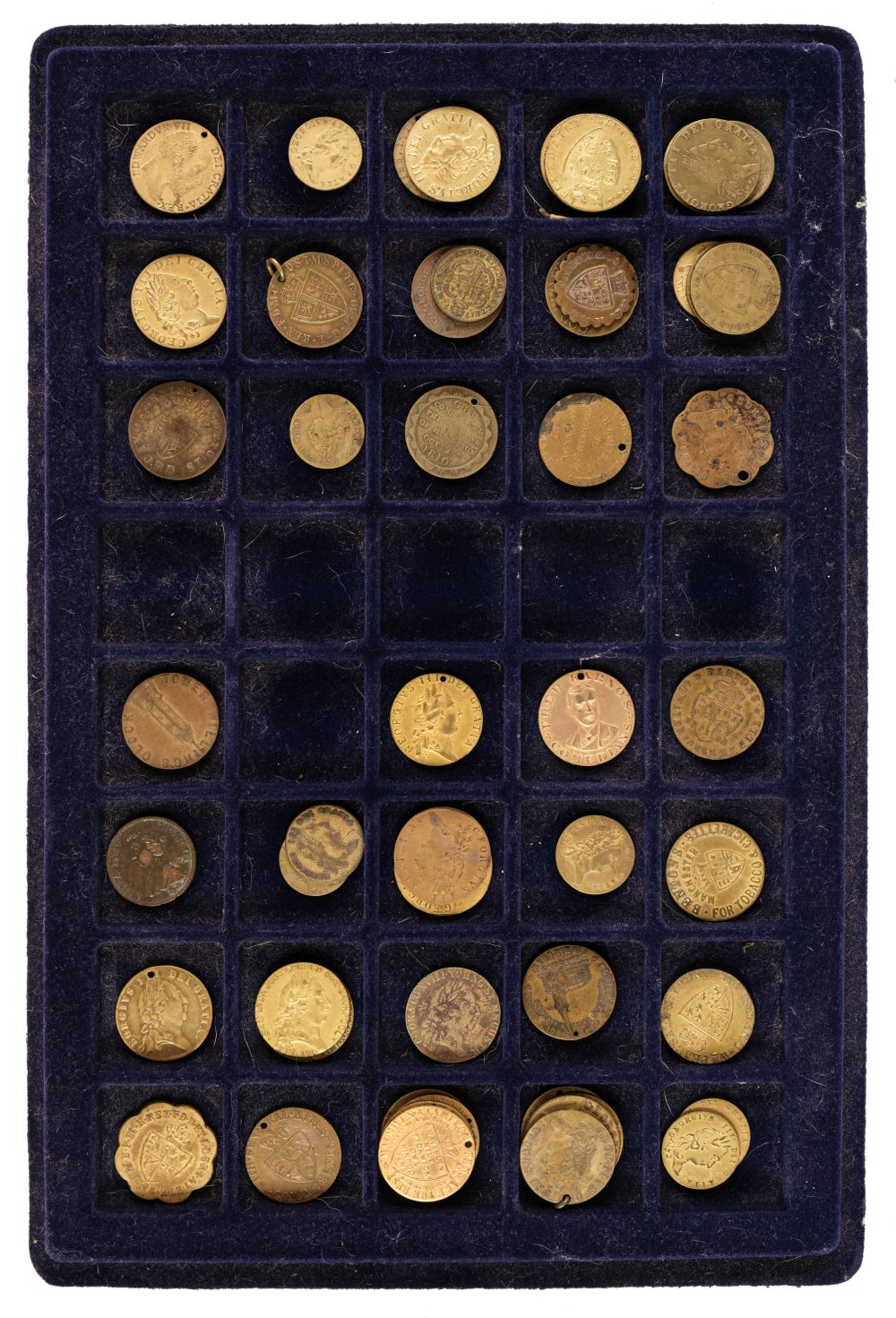 * Tokens. Imitation Spade Guineas. George III and later
