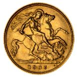 * Edward VII half gold Sovereign, 1906