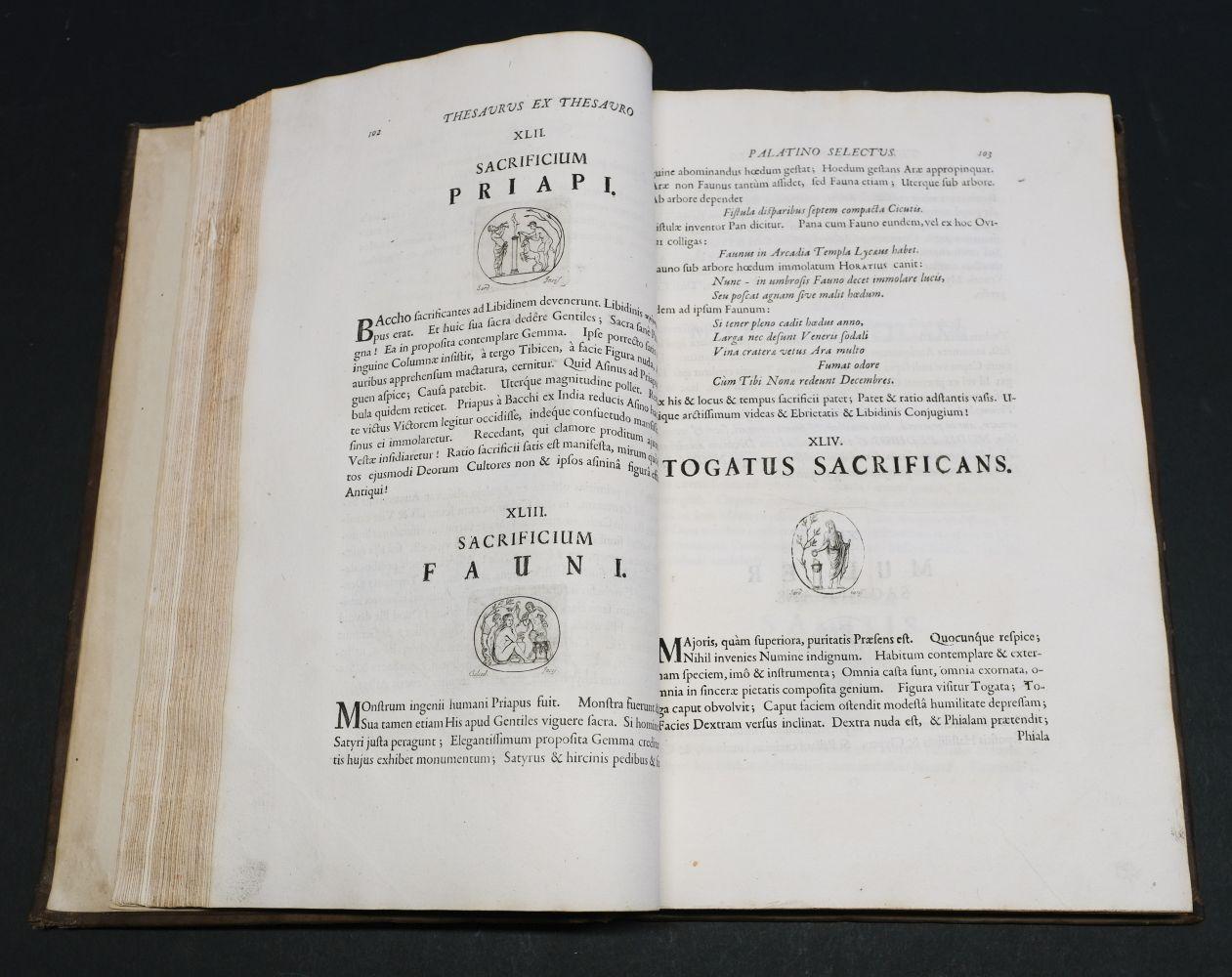Beger (Lorenzo). Thesaurus ex Thesauro Palatino Selectus, 1685 - Image 7 of 9