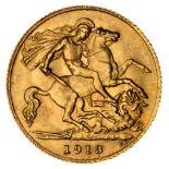 * Edward VII half gold Sovereign, 1913