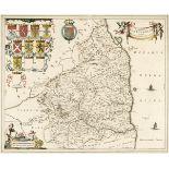 Northumberland. Blaeu (Johannes), Comitatus Northumbria vernacule Northumberland, 1648