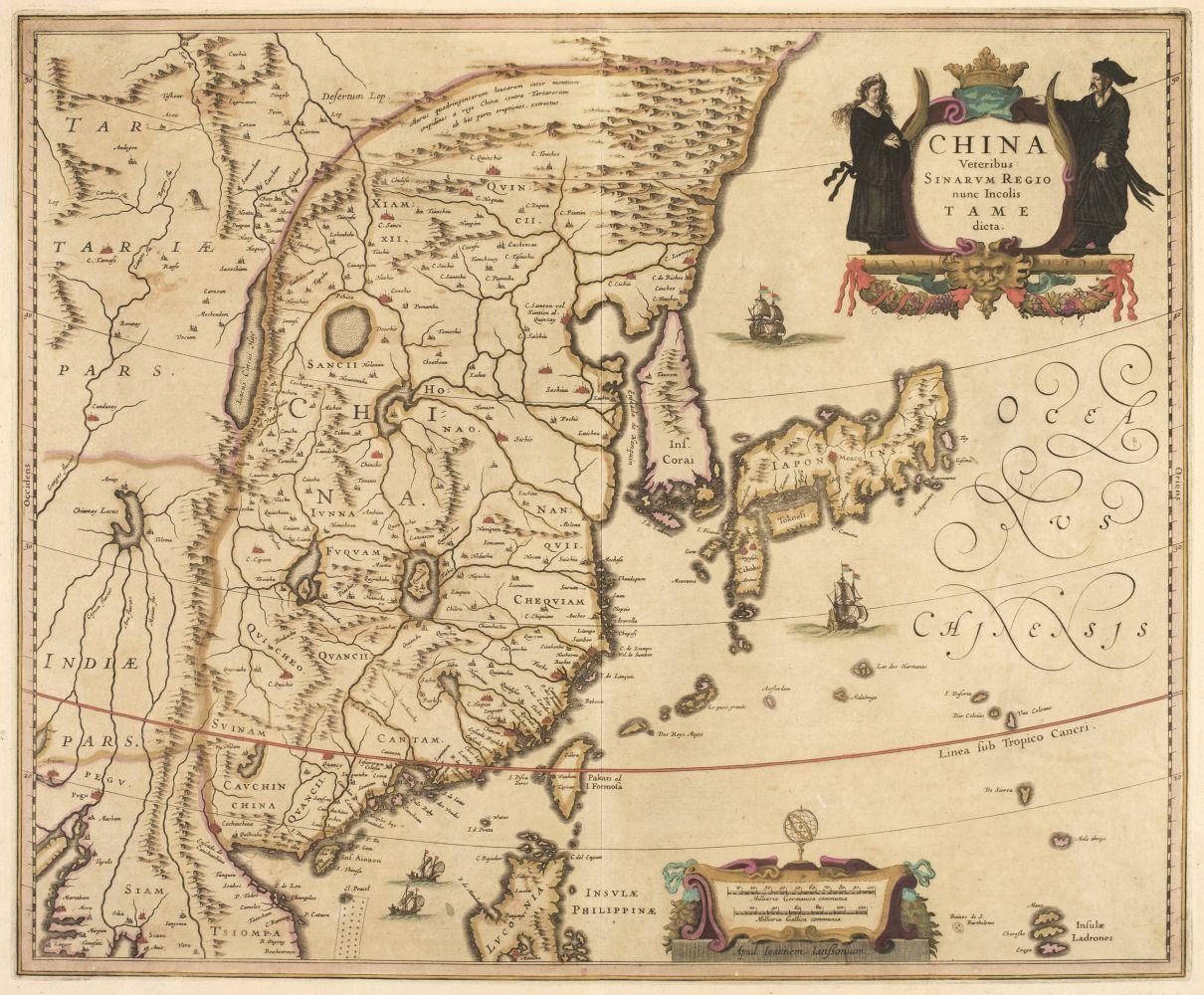 China. Jansson (Jan), China veteribus Sinarum Regnum..., circa 1640