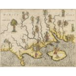 * Hampshire & Dorset. Drayton (Michael), Untitled allegorical map, circa 1612