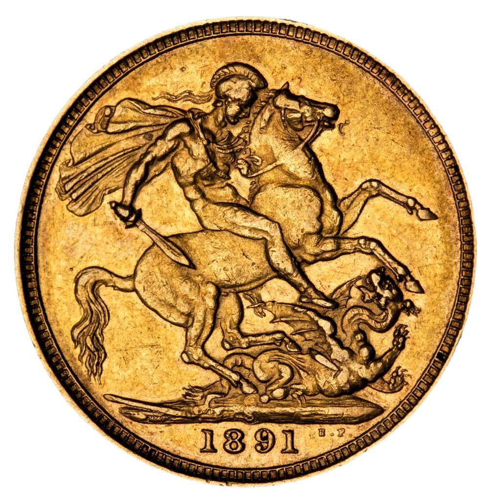 * Victorian full gold Sovereign, 1891