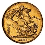 * Victorian full gold Sovereign, 1891