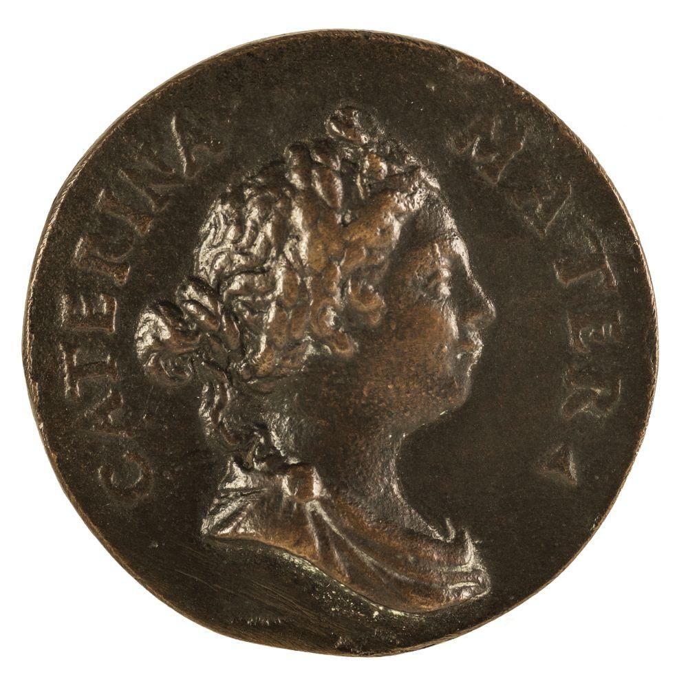 * Medal. Venice, Adria, Daughter of Pietro Aretino, cast bronze medal, 16th century