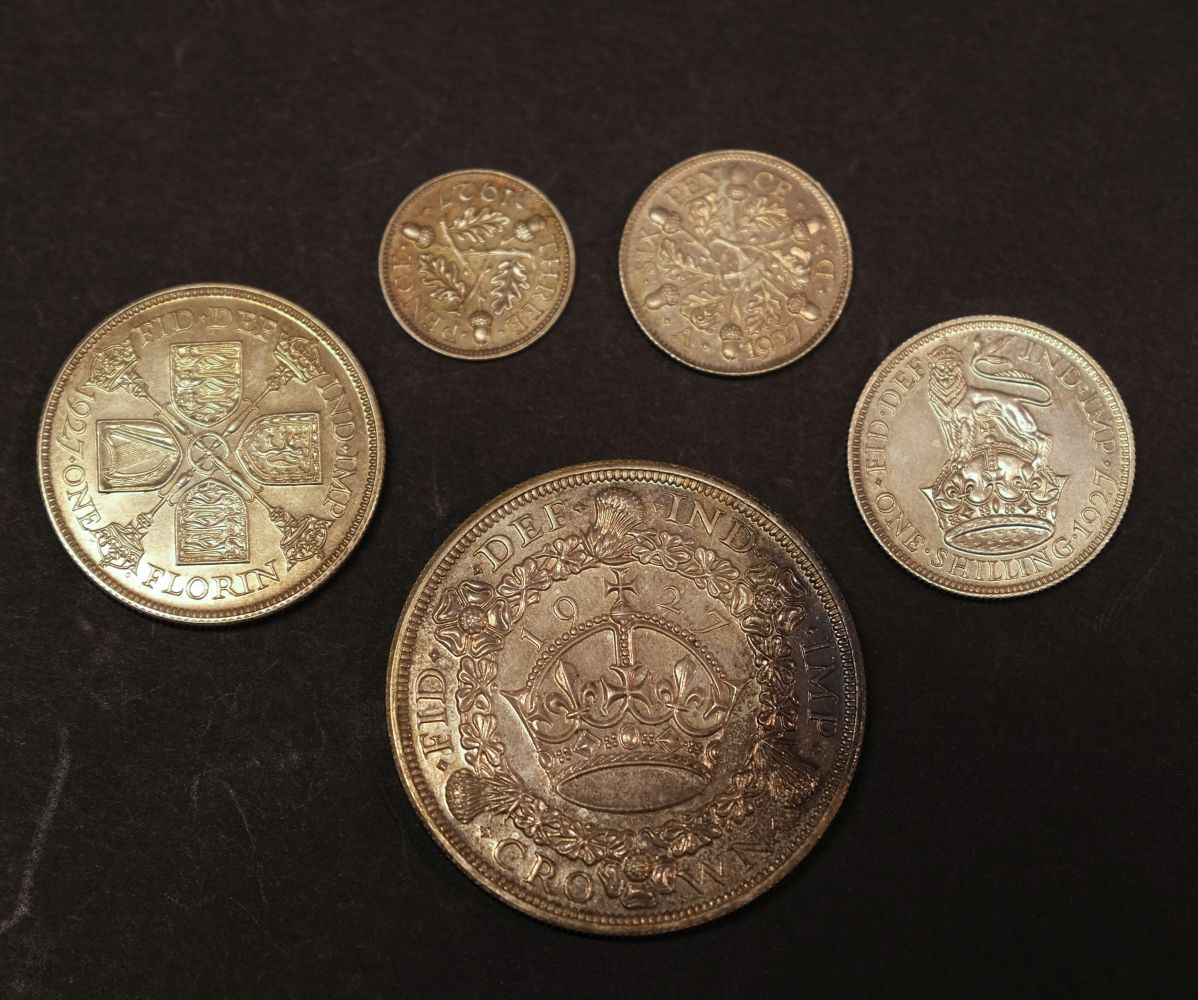 * Coins. Great Britain. George V part proof set, 1927 - Image 2 of 2