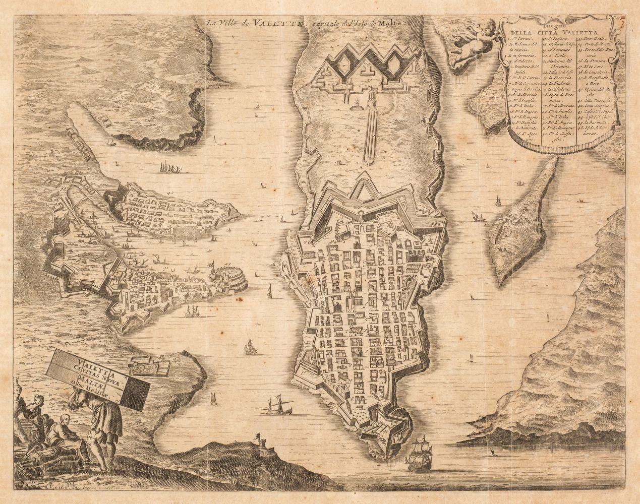 Malta. Vander Aa (Pieter), La Ville de Valette, Capitale de L'Isle de Malte, circa 1720