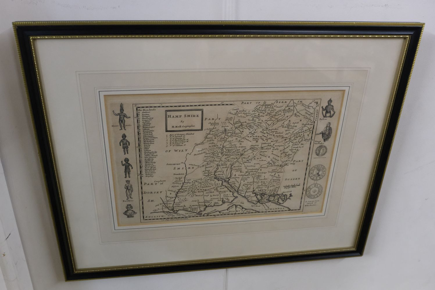 * Hampshire. Norden (J. & Hole G.), Hamshire olim pars Belgarum, circa 1637 - Image 4 of 7