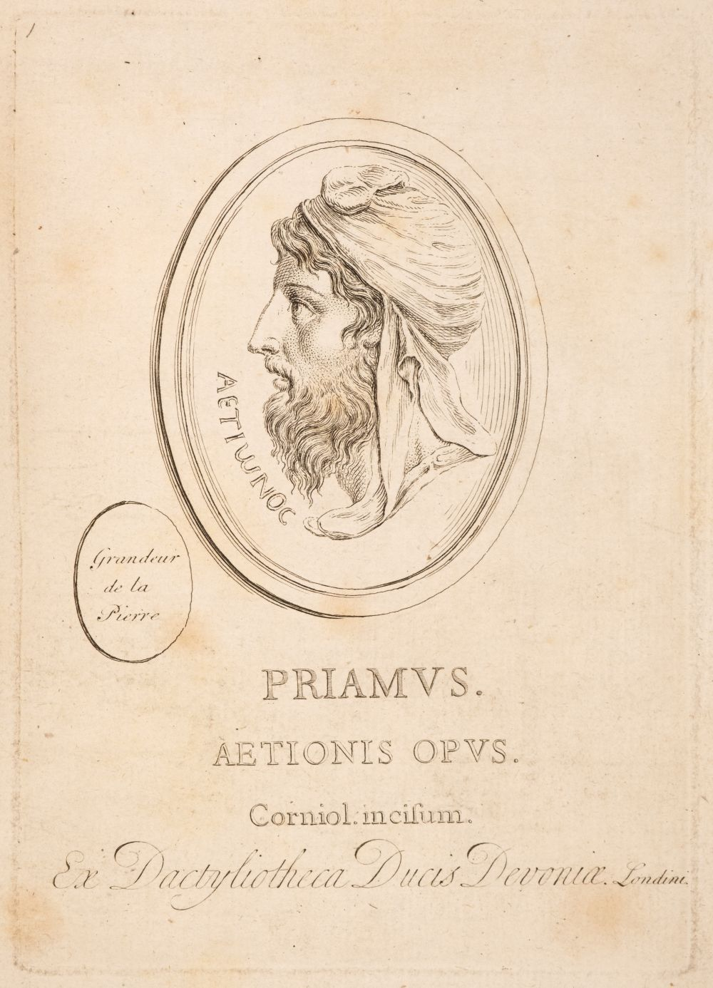 Devonshire Gems. Duke of Devonshire's Collection of Gems, privately printed, circa 1790 - Image 2 of 16