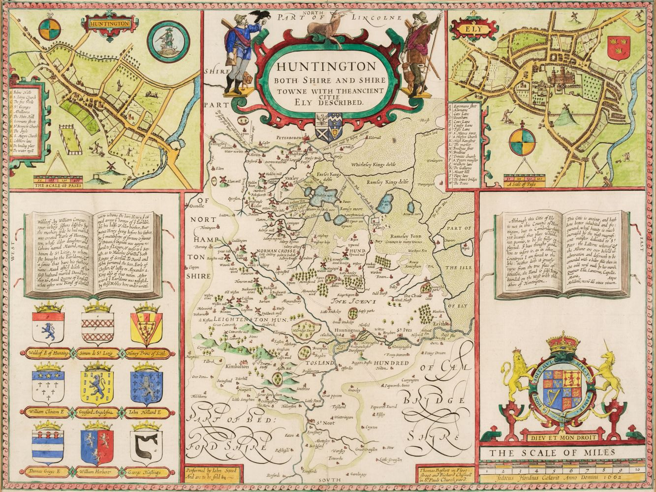 * Huntingdonshire. Speed (John), Huntingdon both Shire and Shire Towne..., 1676