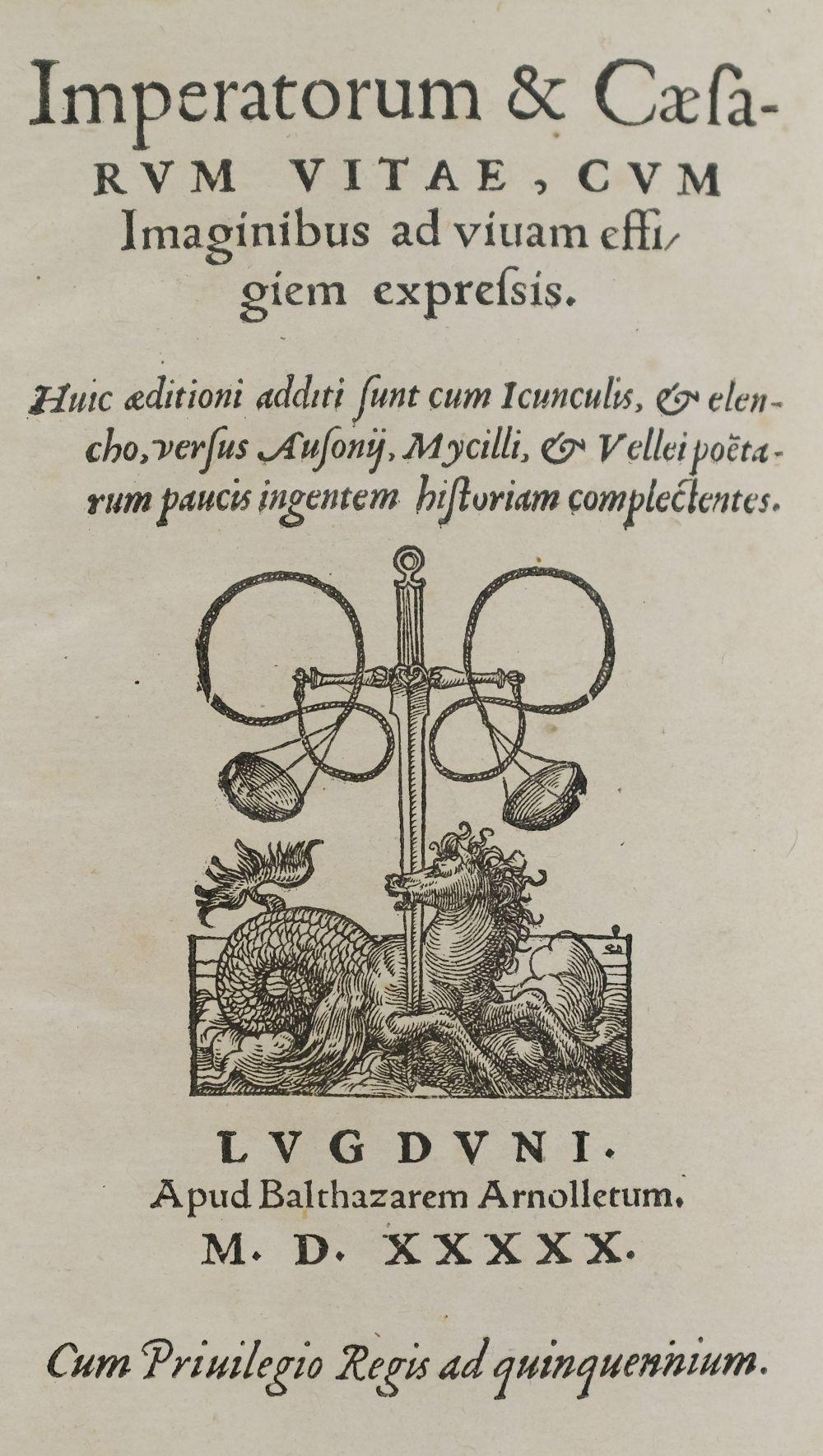 Huttich (Johann). Imperatorum & Ceasarum vitae