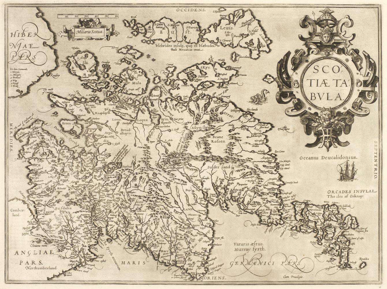 Scotland. Ortelius (Abraham), Scotiae Tabula, [1584]
