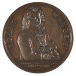 * Medal. Izaak Walton (1593-1683). AE Memorial Medal, 1824