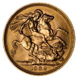 * Elizabeth II, full gold Sovereign, 1962