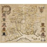 * Hampshire. Blaeu (J.), Hantonia sive Southantonensis comitatus vulgo Hantshire, circa 1645