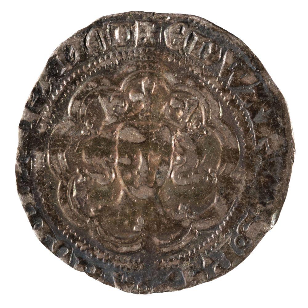 * Coin. Great Britain. Edward III, 1327-77, Halfgroat