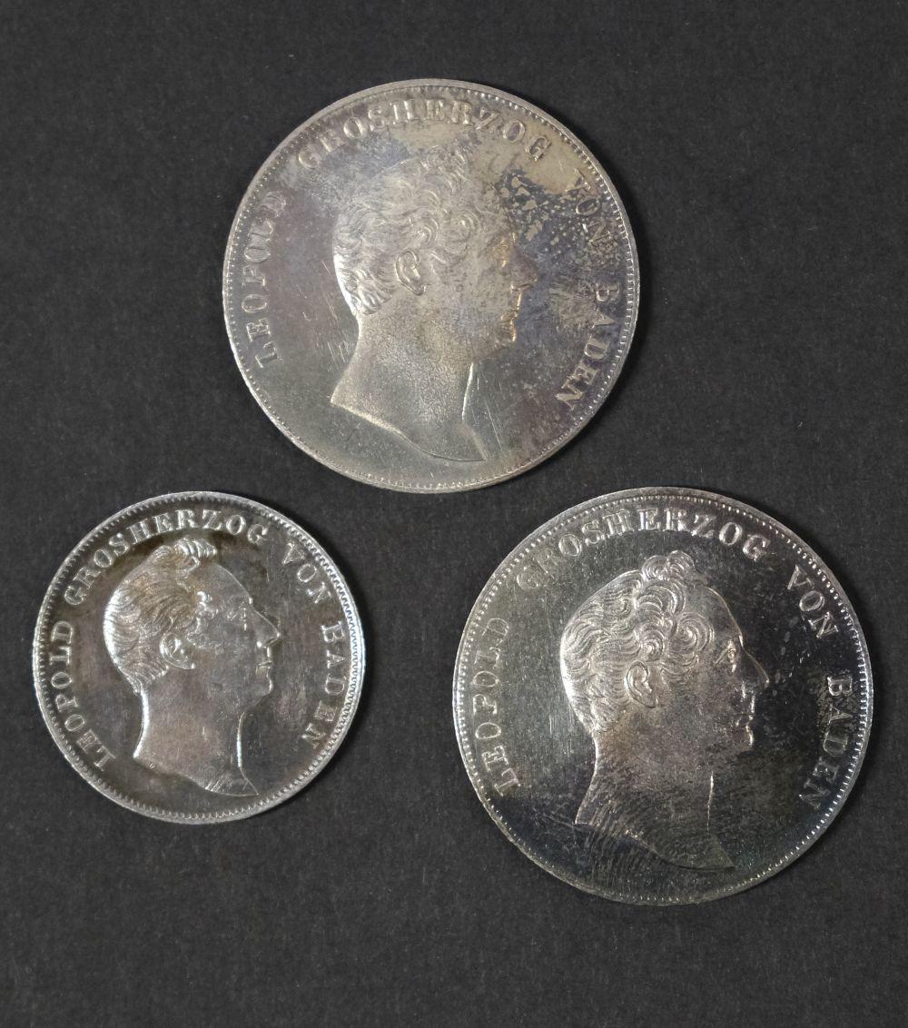 * Coins. Grand Duchy of Baden. Gulden and Half Gulden