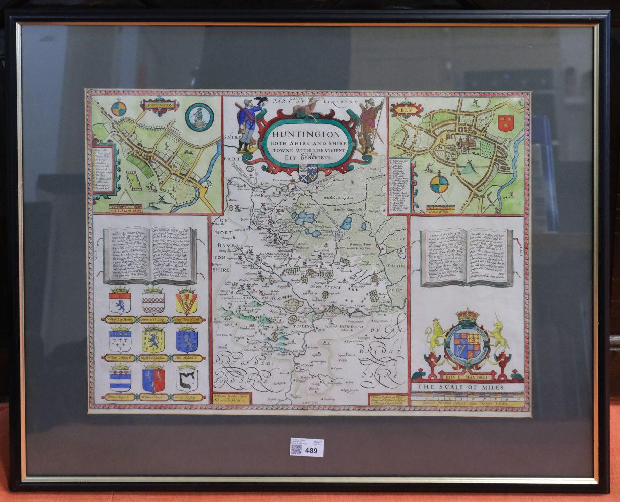 * Huntingdonshire. Speed (John), Huntingdon both Shire and Shire Towne..., 1676 - Image 2 of 3