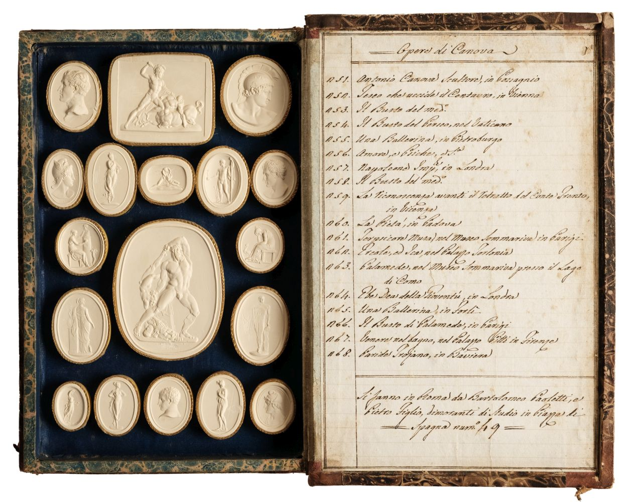Paoletti (Bartolomeo and Pietro). A collection of 300 plaster cameos, 1820 - Image 2 of 16