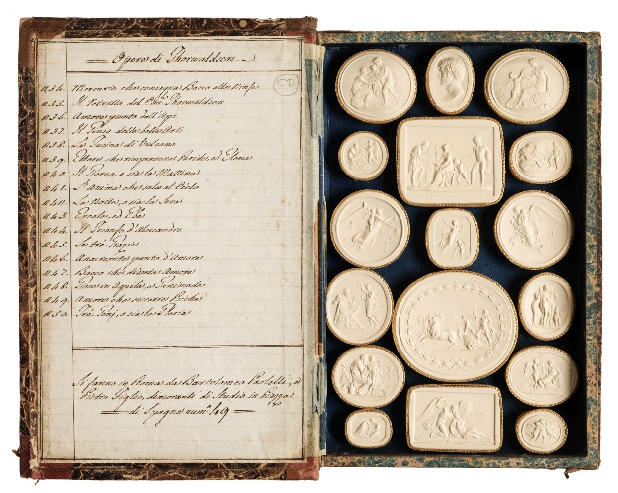 Paoletti (Bartolomeo and Pietro). A collection of 300 plaster cameos, 1820