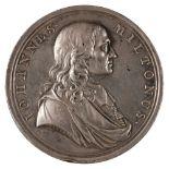 * Medal. John Milton (1608-1674). AR Medal, 1737