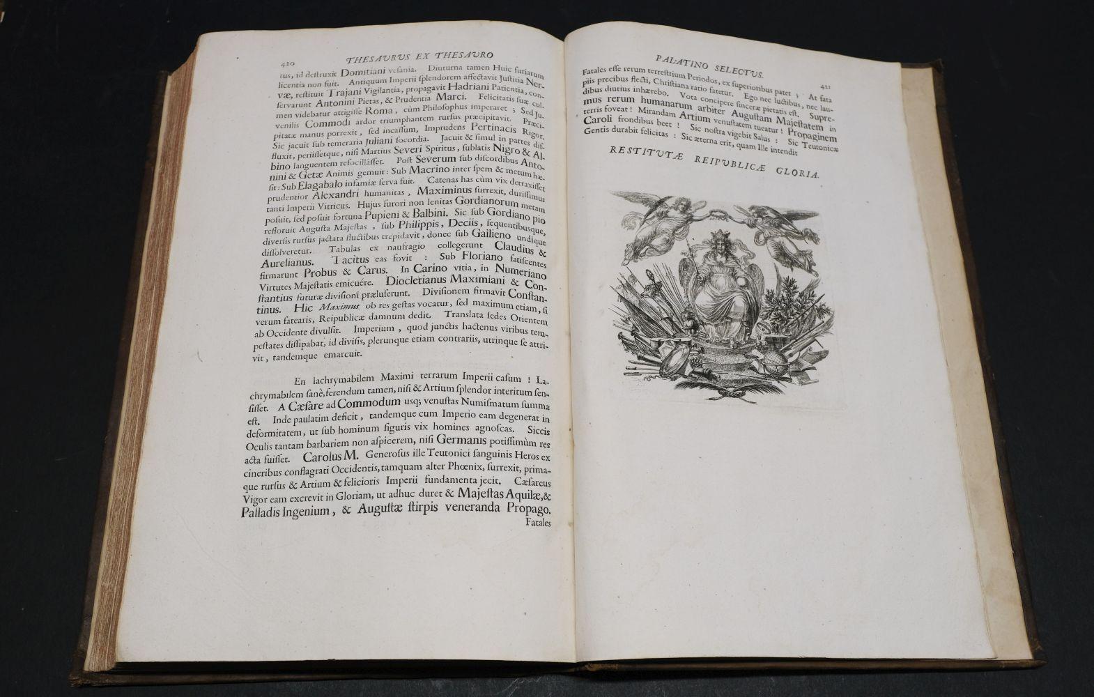 Beger (Lorenzo). Thesaurus ex Thesauro Palatino Selectus, 1685 - Image 9 of 9