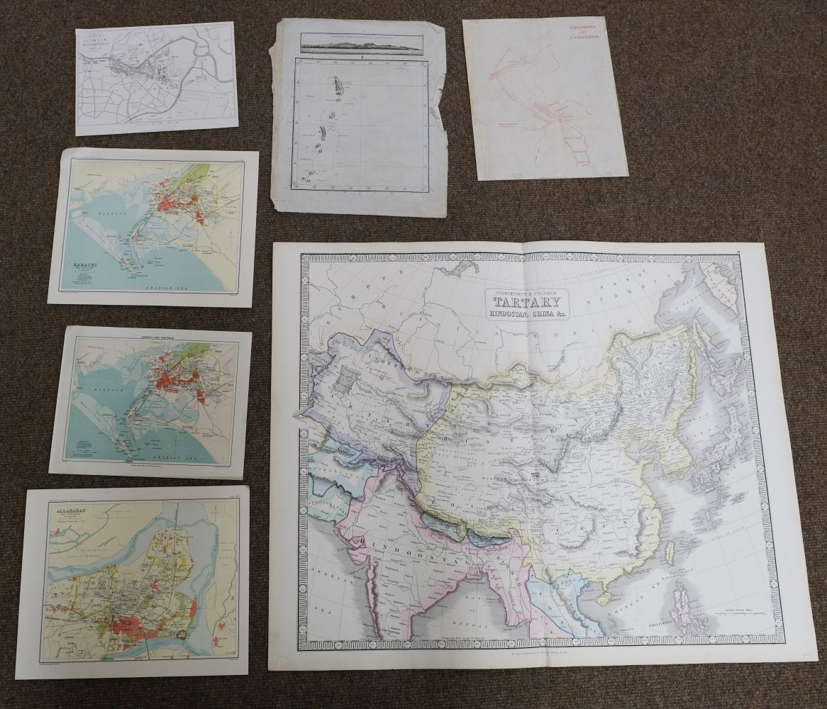 China & Asia. A mixed collection of approximately 40 maps, mostly 18th & 19th century - Image 4 of 5