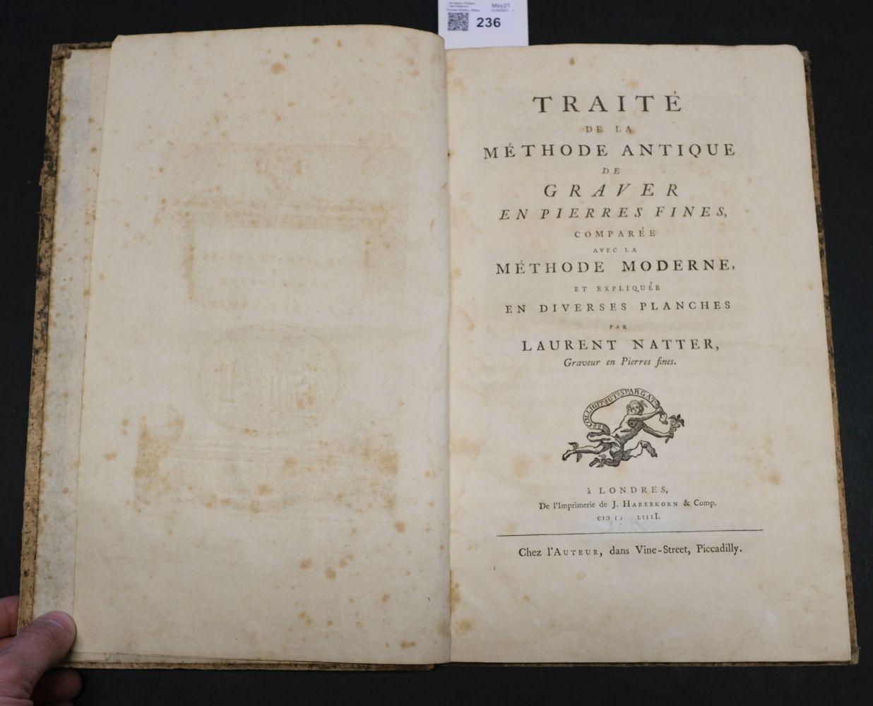 Natter (Johann Lorenz). Traite de la Methode Antique, 1754 - Image 5 of 7