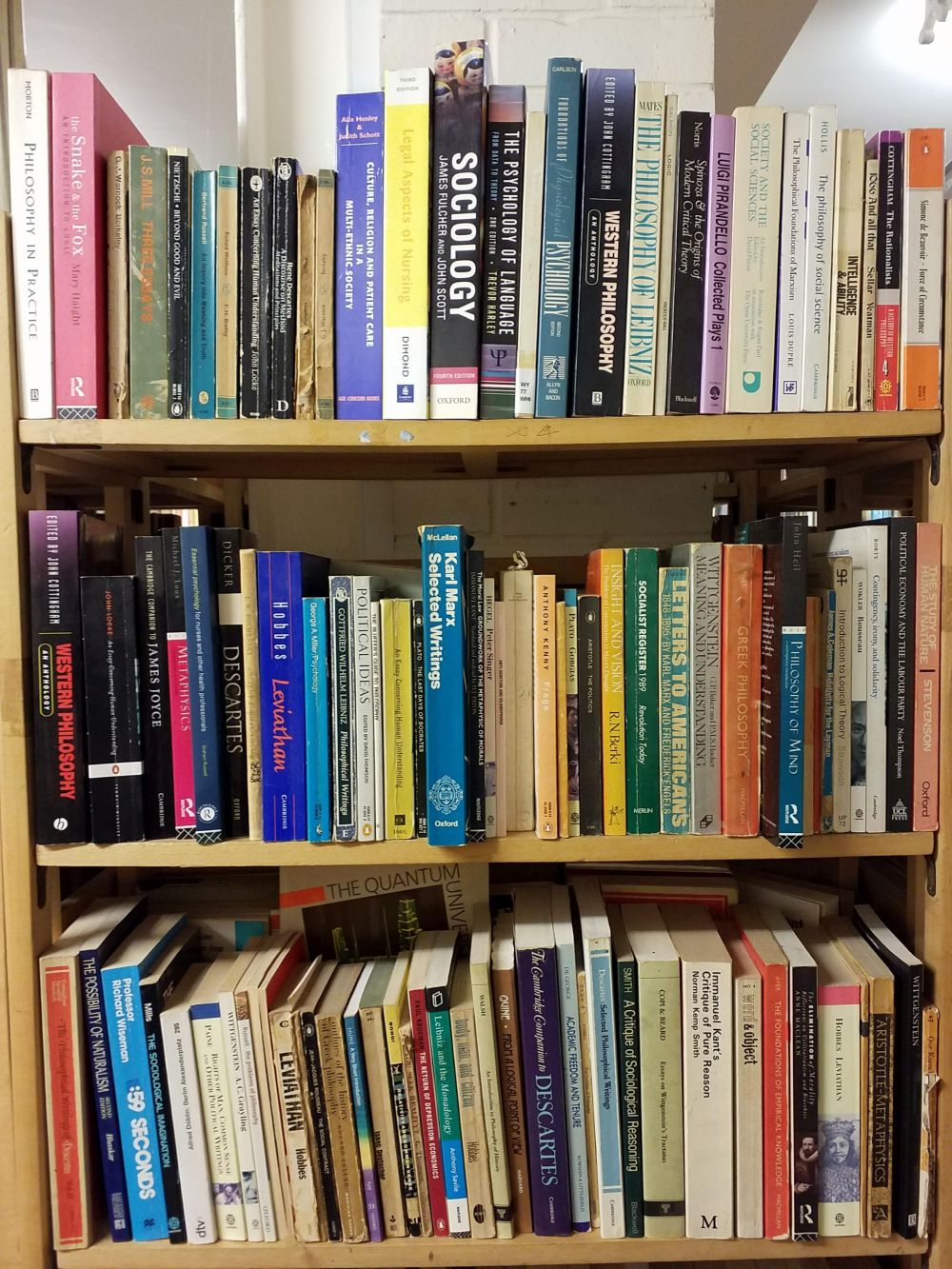 Philosophy. A large collection of early 20th-century & modern philosophy paperbacks