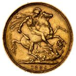 * Victorian full gold Sovereign, 1889