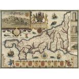 * Cornwall. Speed (John), Cornwall, John Sudbury & George Humble, circa 1627