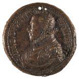 * Medal. Vincenzo I Gonzaga (1562-1612). Cast bronze medal, fine old casting