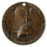 * Medal. Emperor Maximilian I and Mary Duchess of Burgundy, by Giovanni Candida, circa 1477