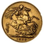 * George V full gold sovereign, 1928