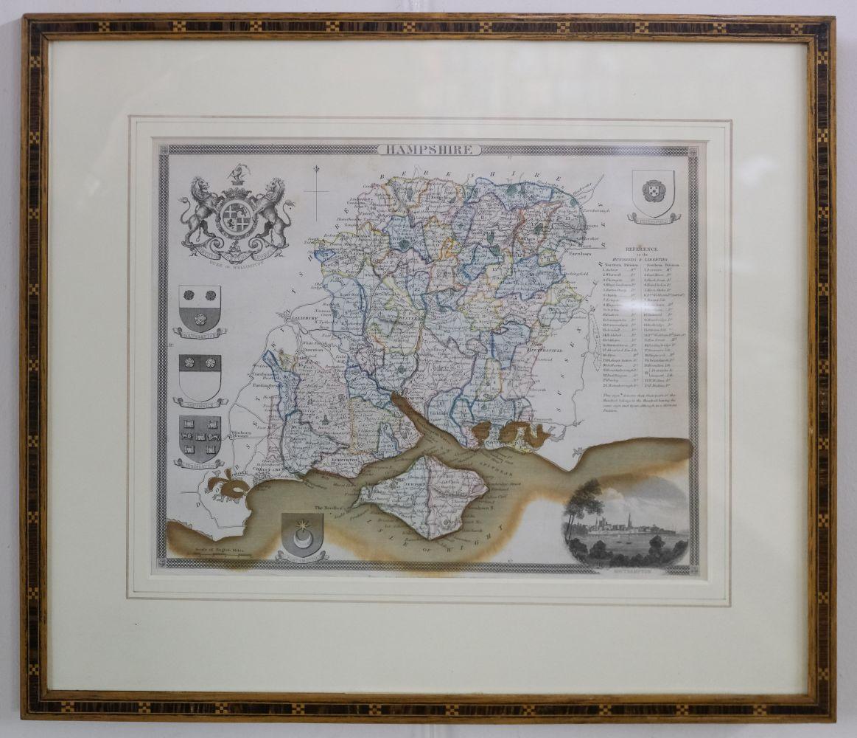 * Hampshire. Norden (J. & Hole G.), Hamshire olim pars Belgarum, circa 1637 - Image 3 of 7