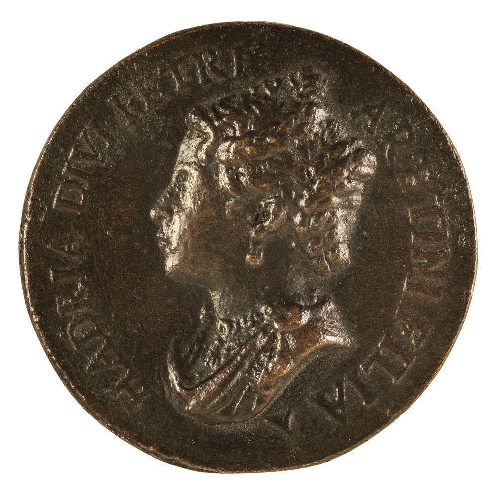 * Medal. Venice, Adria, Daughter of Pietro Aretino, cast bronze medal, 16th century - Image 2 of 2