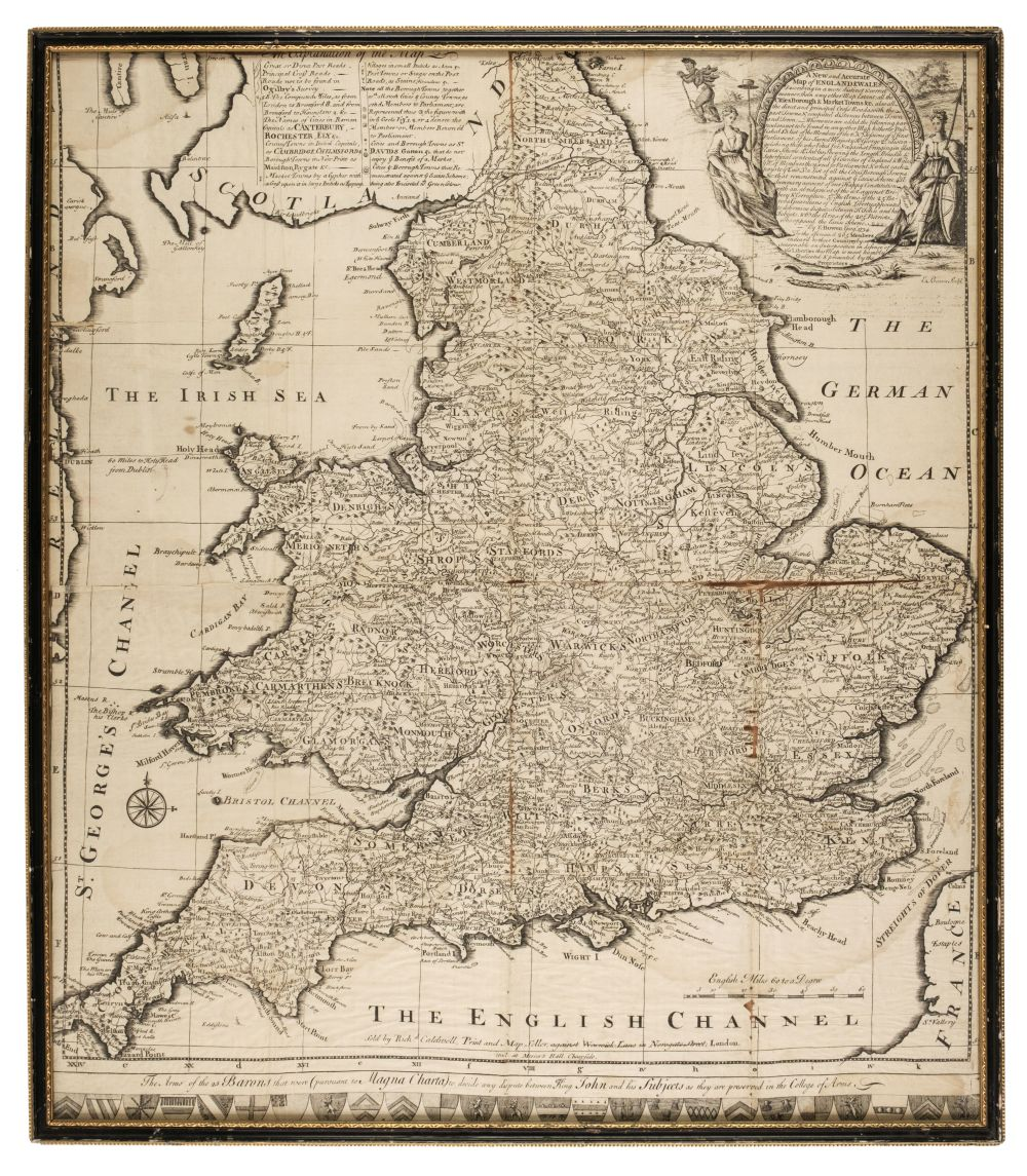 * England & Wales. Bowen (E.), A New and Accurate map of England & Wales, 1734