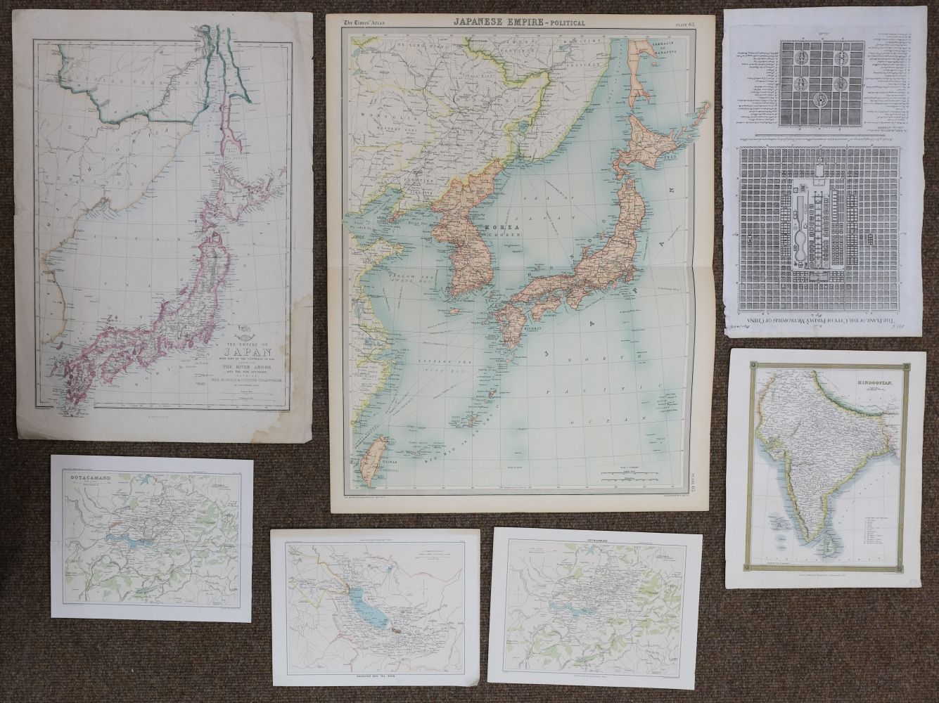 China & Asia. A mixed collection of approximately 40 maps, mostly 18th & 19th century - Image 2 of 5