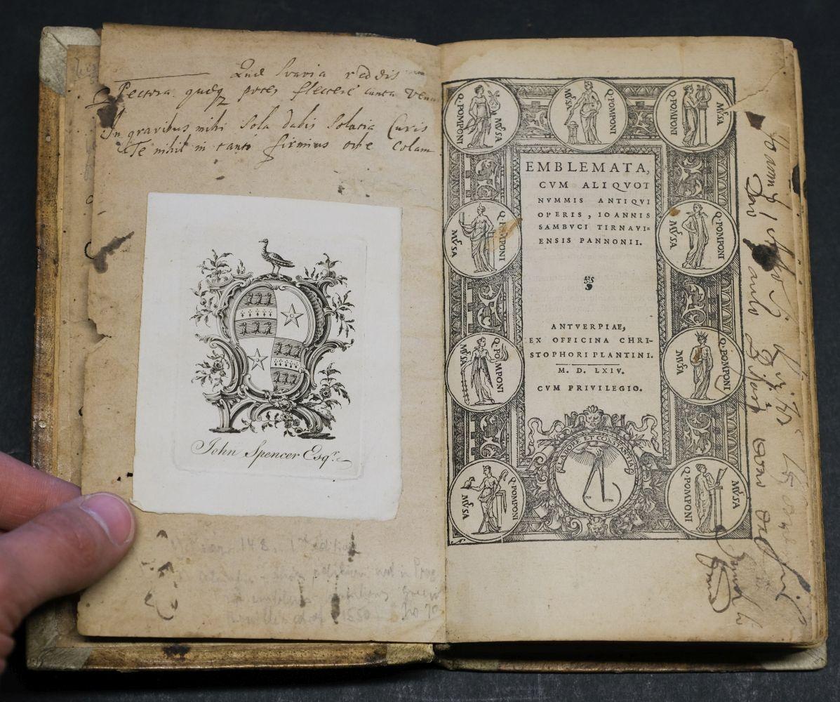 Sambucus (Joannes). Emblemata, Antwerp: Christopher Plantin, 1564 - Image 7 of 11