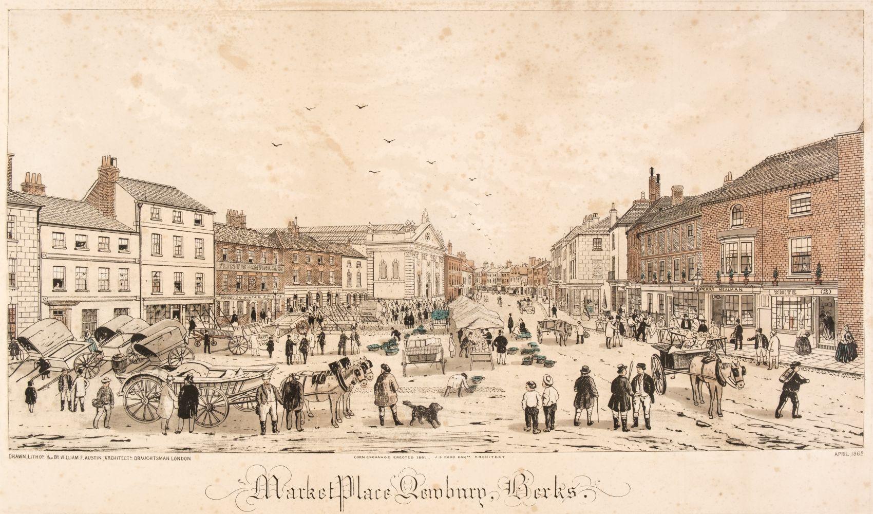 * Newbury. Austin (William F.), Market Place Newbury, Berks, 1862