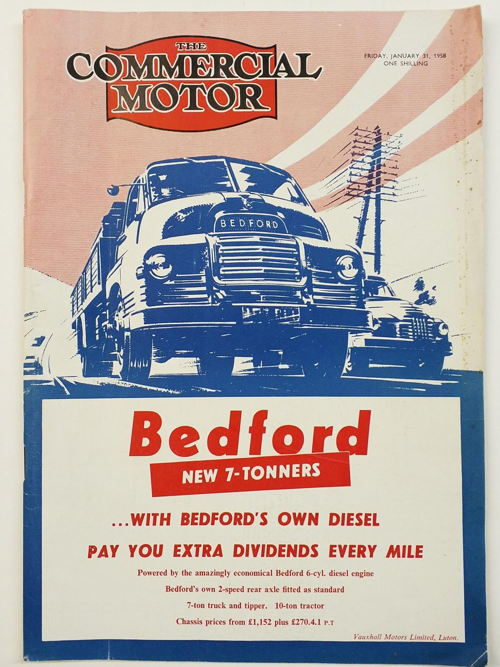 Commercial Motor. The Commercial Motor, 74 issues, a broken run, published 1954-62