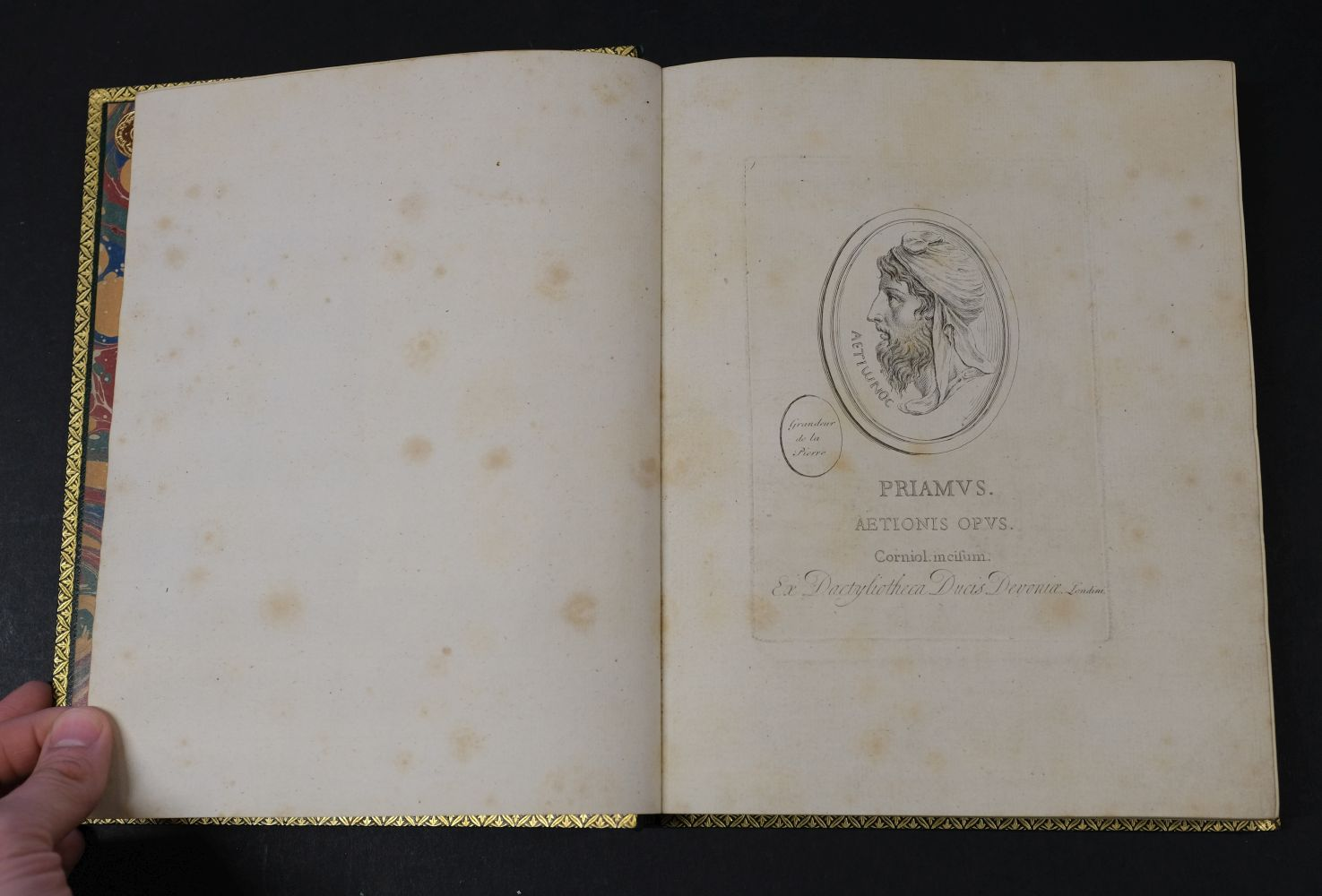 Devonshire Gems. Duke of Devonshire's Collection of Gems, privately printed, circa 1790 - Image 10 of 16