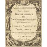Goorle (Abraham van). Abrahami Gorlæi Antverpiani Dactyliotheca seu Annulorum, 1601?
